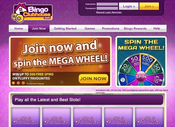 Акции Bingo Clubhouse