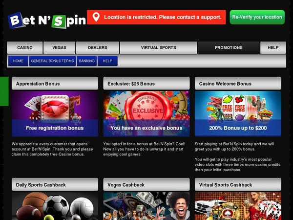 Bet N Spin Credit Card