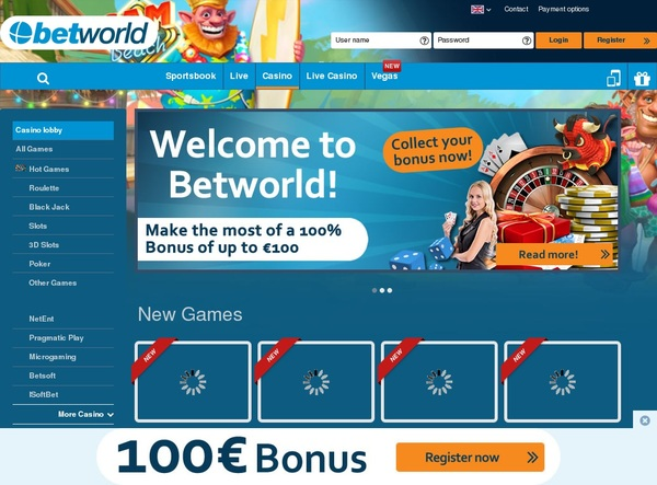 Betworld Online Casino Bonus