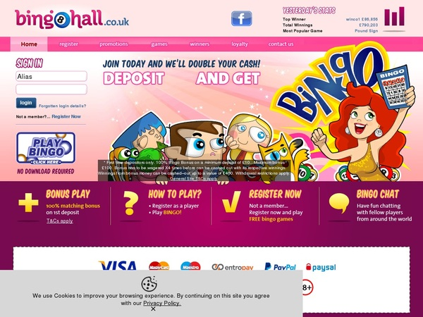 Bingo Hall Bonus Promotion