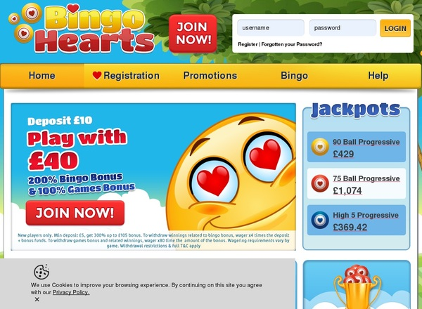 Bingo Hearts E-wallet