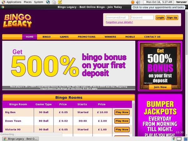 Bingo Legacy High Limit