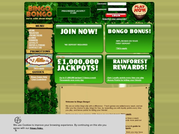 Bingobongo Free Code