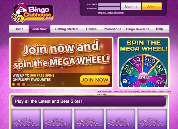 Bingoclubhouse Website
