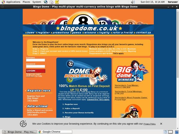 Bingodome With Credit Card
