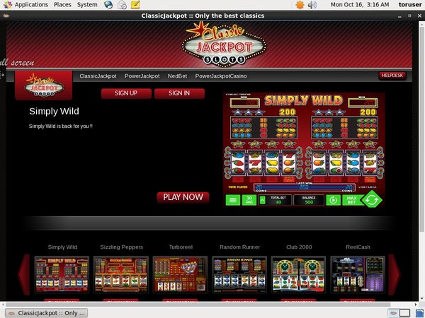 Classic Jackpot Promotions Offer