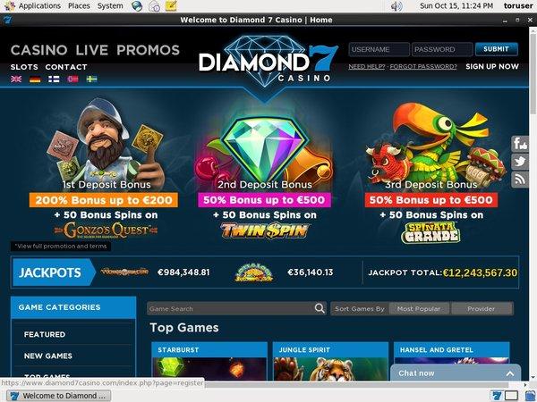 Diamond 7 Free Bet Bonus
