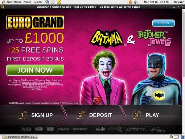 Euro Grand Casino Offers Uk