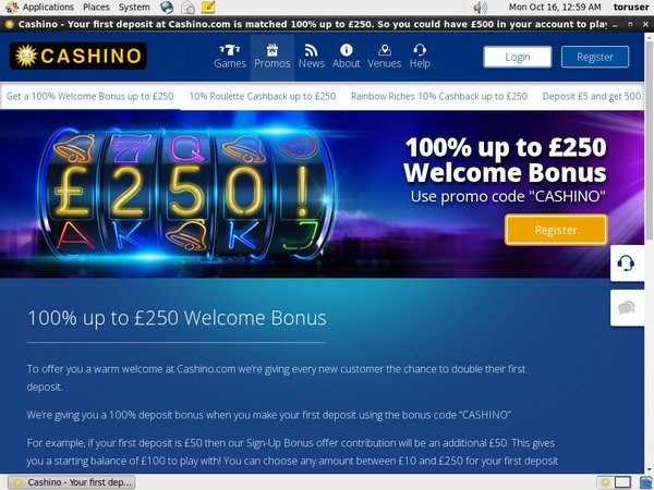 Free Cashino Account
