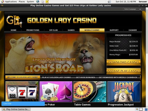 Golden Lady Casino Max Payout