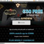Grandfortune Gambling Bonuses