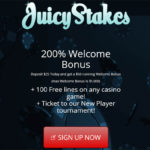 Juicy Stakes New Customers Bonus