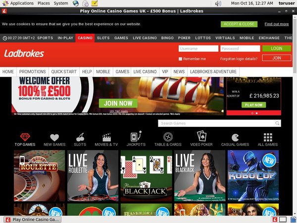Ladbrokes Casino Blackjack Limit