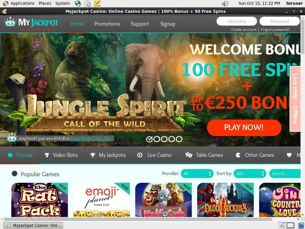 Myjackpotcasino Sign Up Bonuses