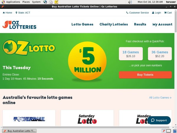 Oz Lotteries Signup Bonus Offer