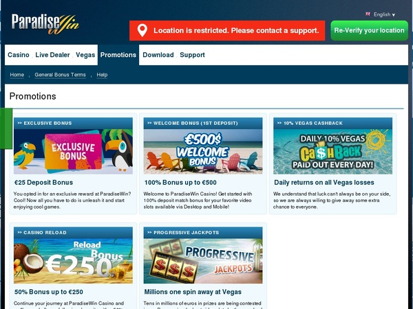 Paradisewin Gambling Sites