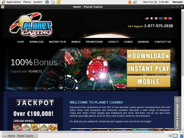 Planet Casino Online Roulette