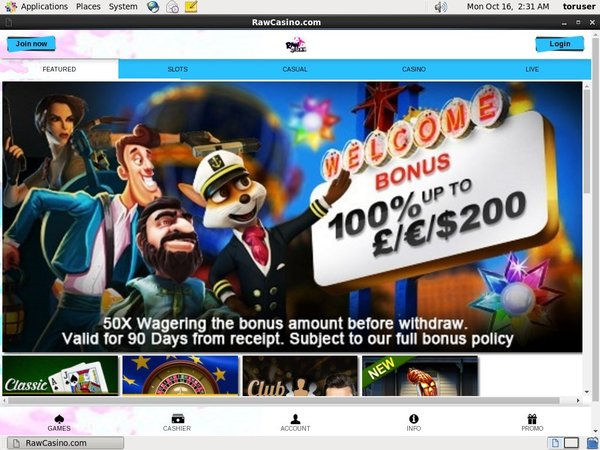 Raw Casino 300 Euro Bonus
