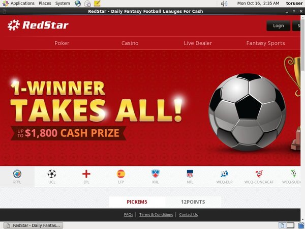 Red Star Fantasy Withdrawal