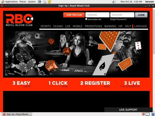 Royalbloodclub Casino Login