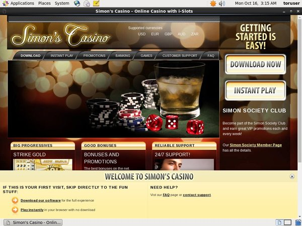 Simon Says Casino Bonuscode