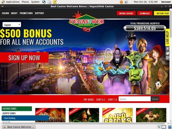 Vegas 2 Web Bonus Code No Deposit