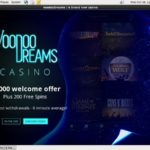 Voodoo Dreams Sign Up Form