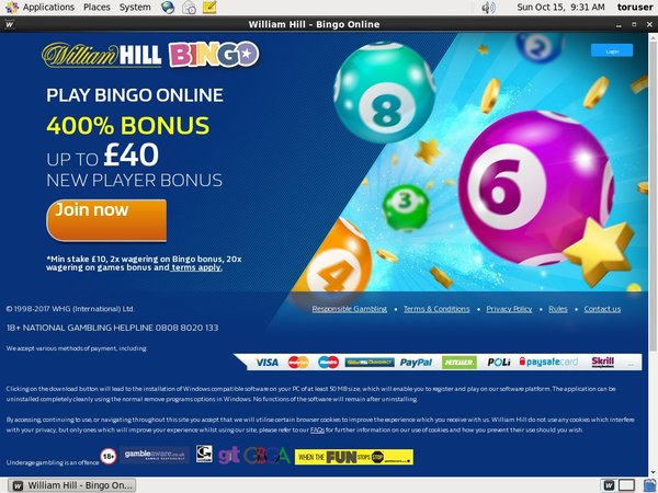William Hill Bingo Bonos Sin Deposito