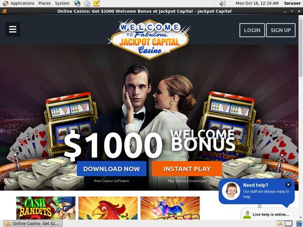 Jackpot Capital Free Spins No Deposit