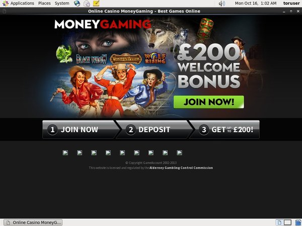 Money Gaming Sign Up Deal