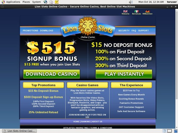 Lion Slots Pay By Phone