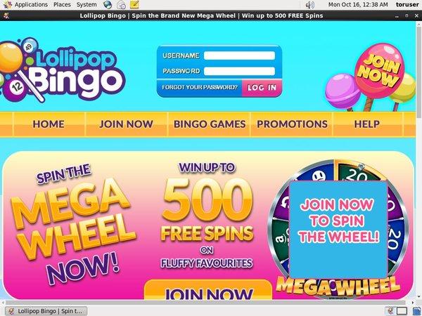 Lollipop Bingo Place Bet