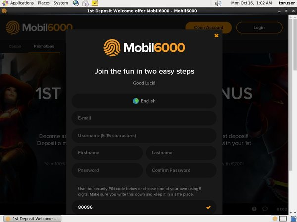 Mobil6000 Sign Up Code
