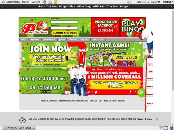 Paintthetownbingo Free Bet Code