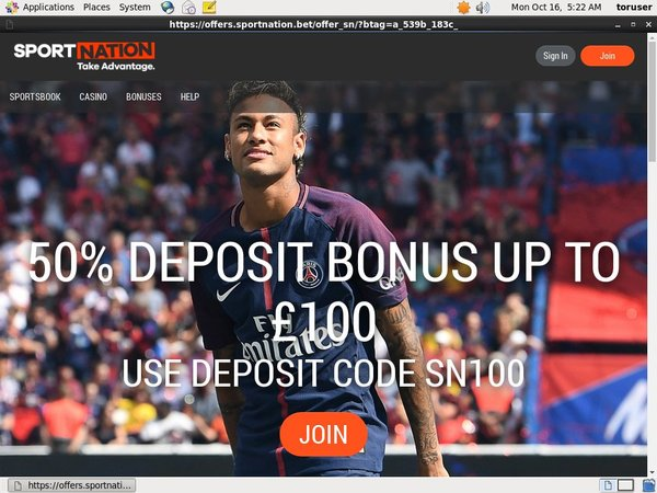 Sport Nation Pounds No Deposit