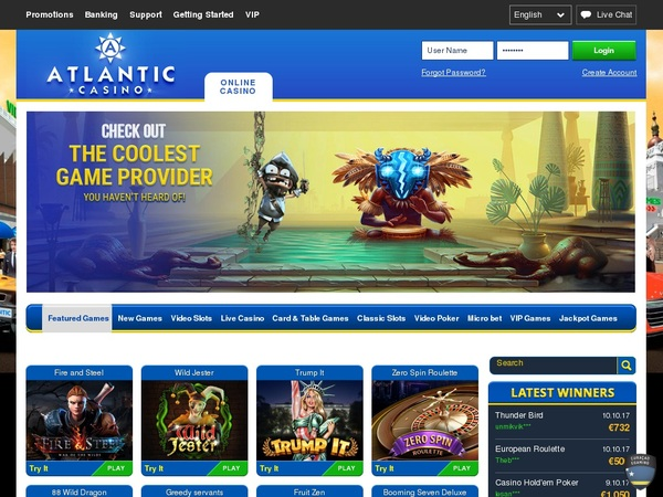 Atlanticcasino No Deposit Needed