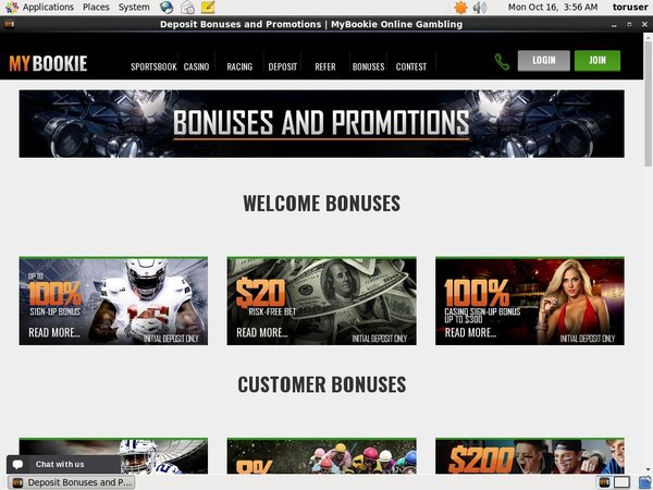 My Bookie Bonus Promotion