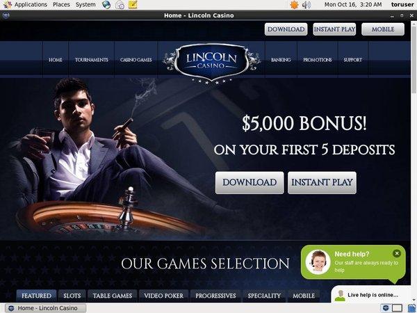 Freespins Lincoln Casino