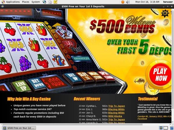 Win A Day Casino Registrese