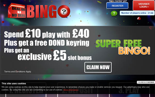 Deal Or No Deal Bingo Online Casino Jackpot
