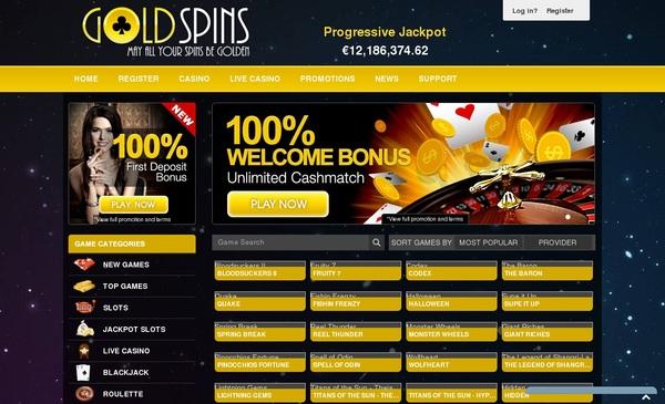 Goldspins Signup Bonuses