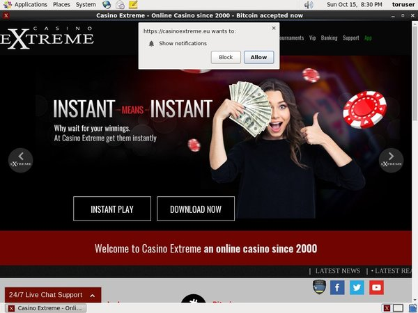 Casino Extreme Free Bet Offer