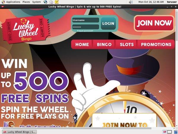 New Lucky Wheel Bingo Customer