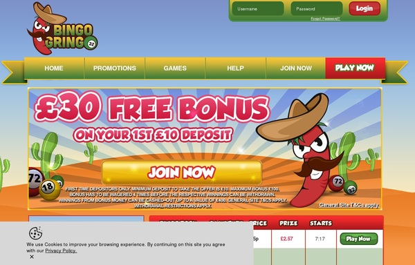 Bingogringo New Customers Bonus