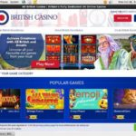 Welcome All British Casino Bonus