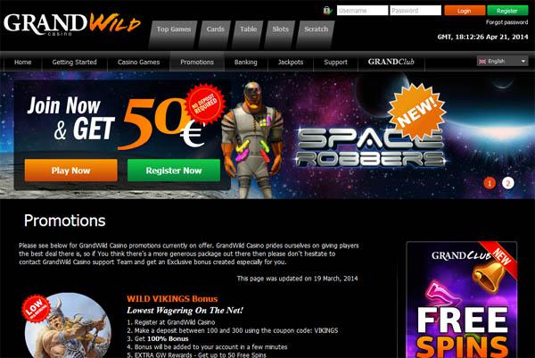 Grandwild Desktop Site Login