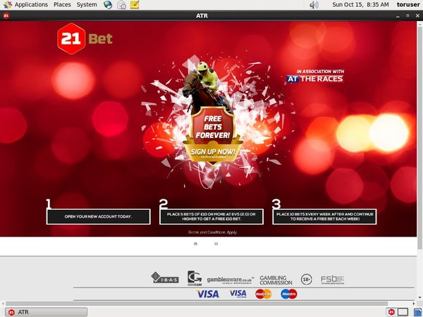21bet Sign Up Form