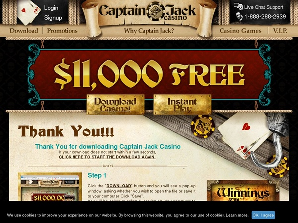 Captain Jack Casino Match Deposit