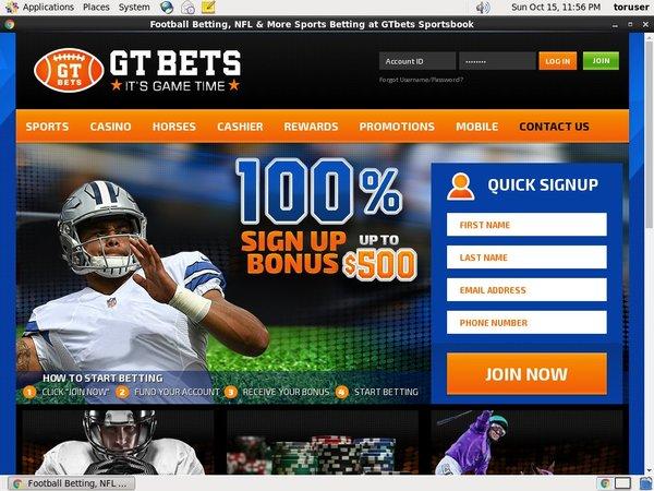 GT Bets NFL Registrese