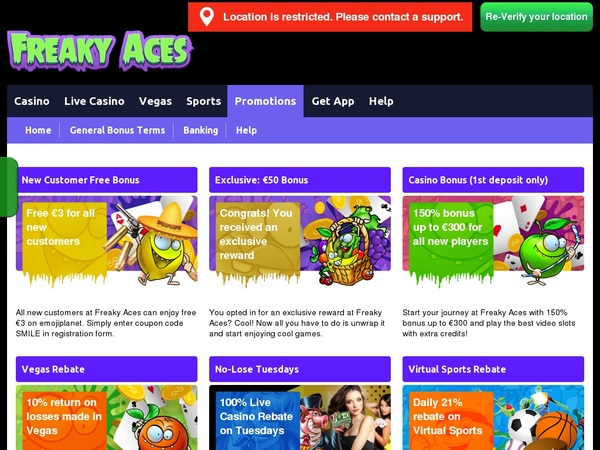Join Freakyaces Promotion